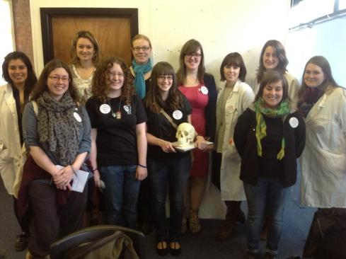 The lovely Science Grrls Image from @lisamarieke
